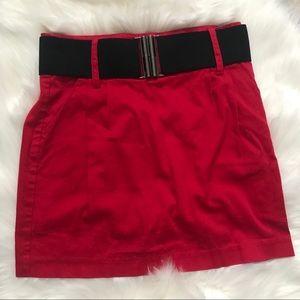 Forever 21 Red Mini Skirt with Belt